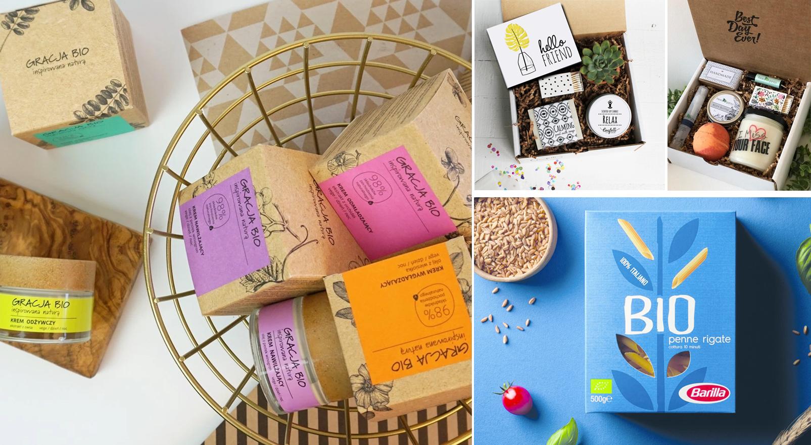 Természetes papír csomagolás bio termékekhez