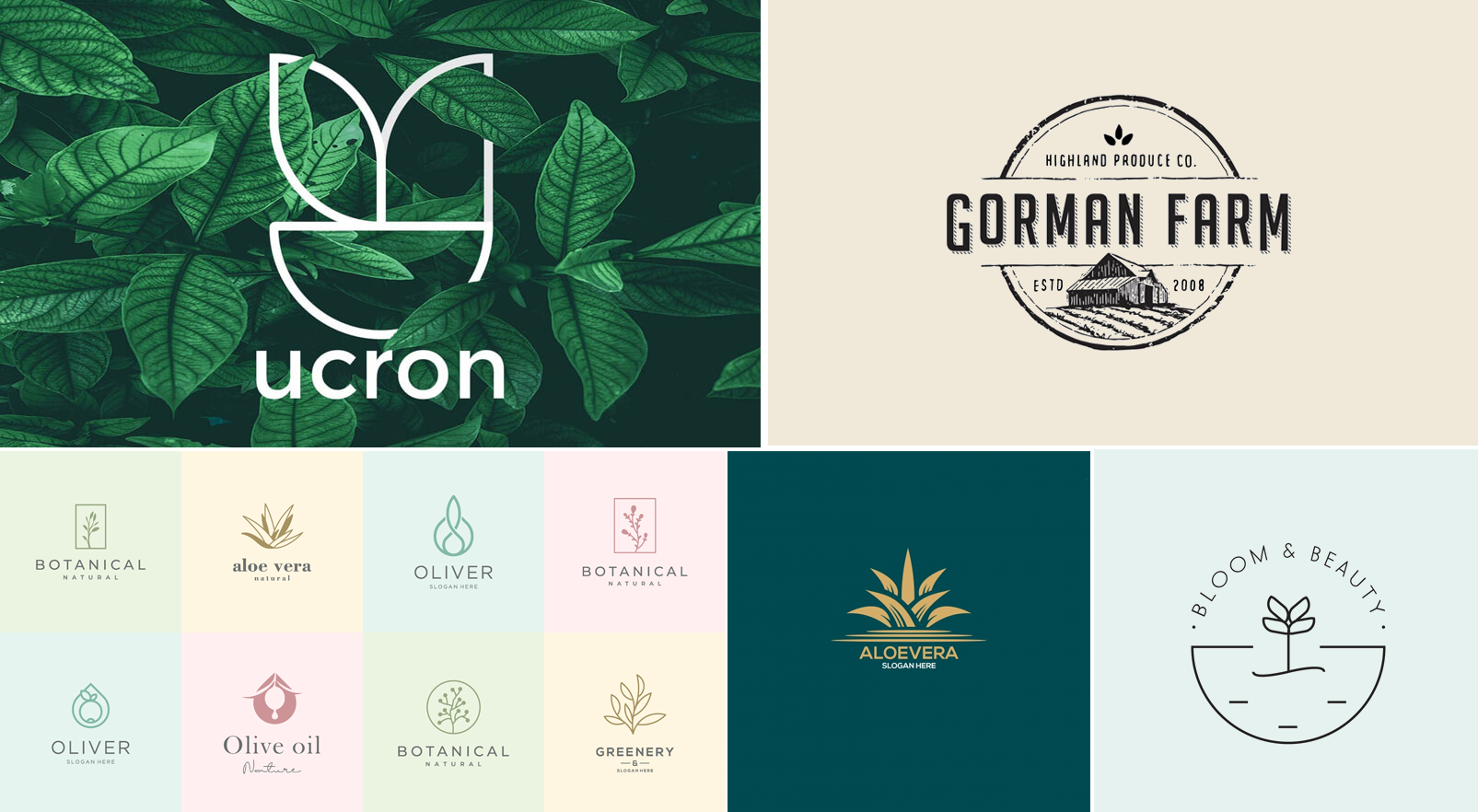 Natural logo, bio product logo